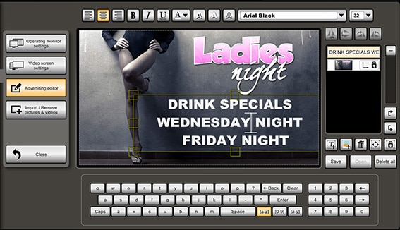 Nightclub and Bar Advertising Systems